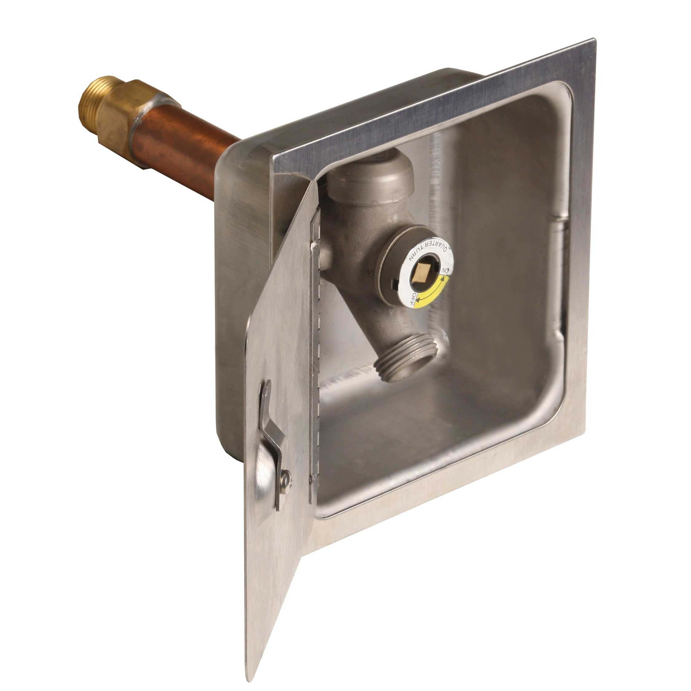 Quarter Turn Wall Hydrant And Stainless Steel Box Murdock