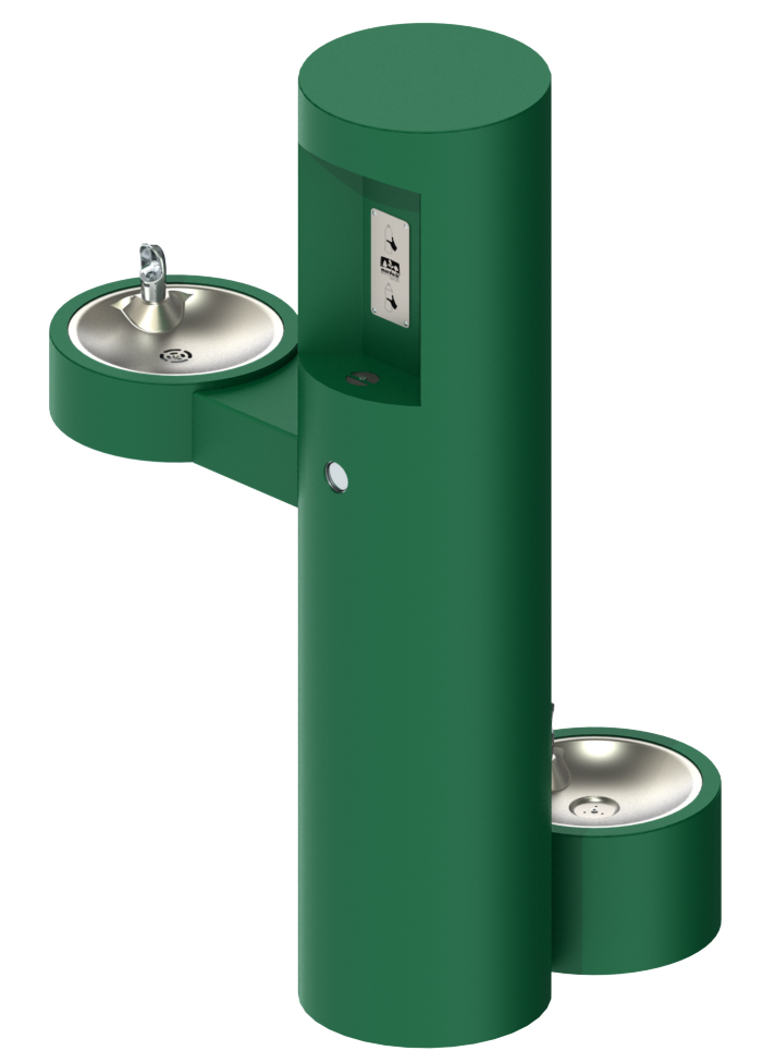 B Outdoor Pedestal Bottle Filler With Barrier Free