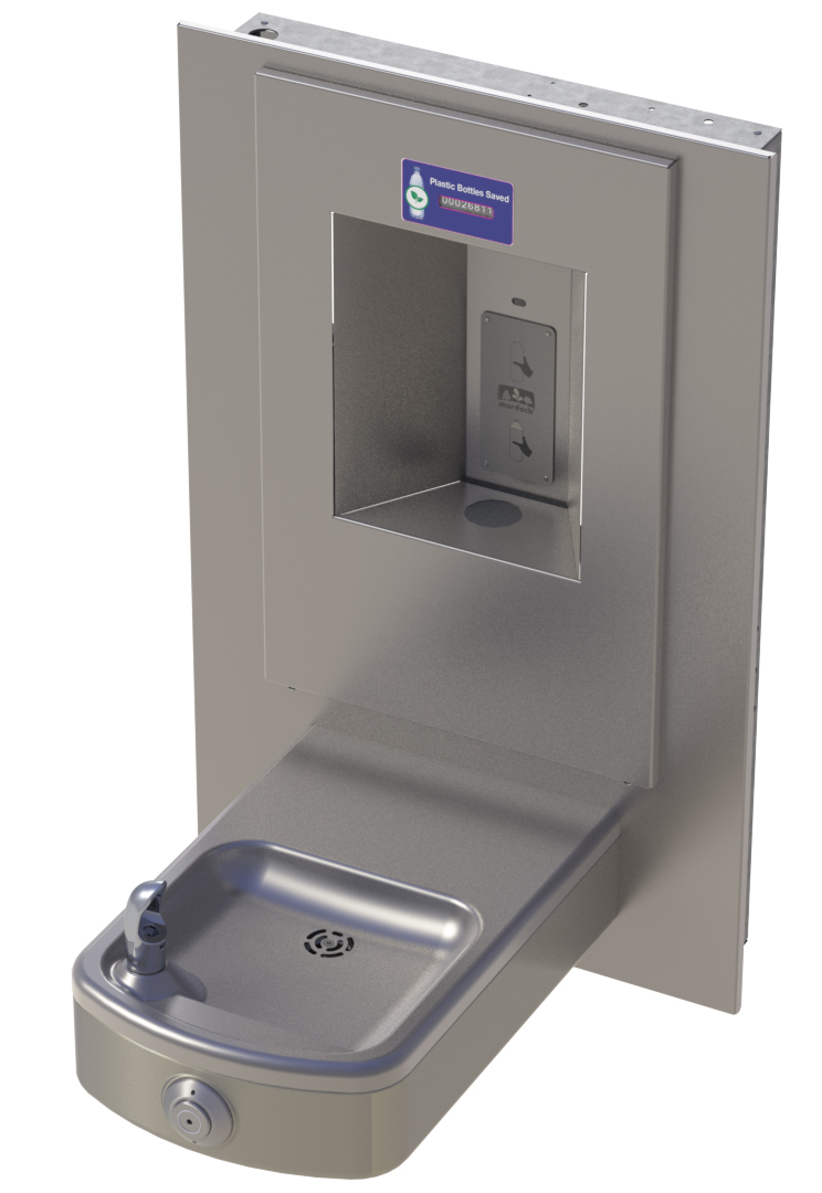 Rounded Box Barrier Free Wall Mount Drinking Fountain