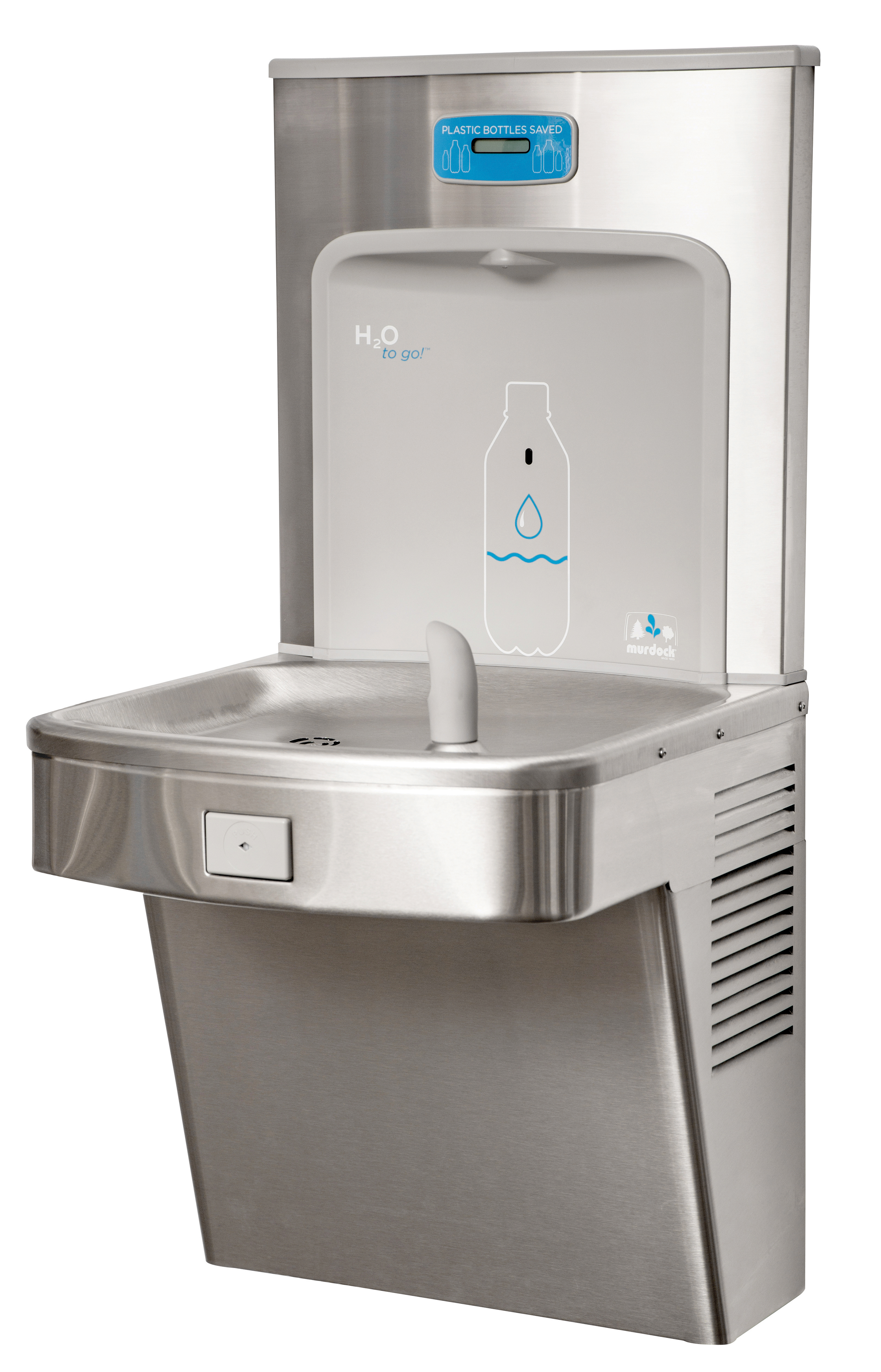 Barrier Free Wall Mount Water Cooler With H2o To Go
