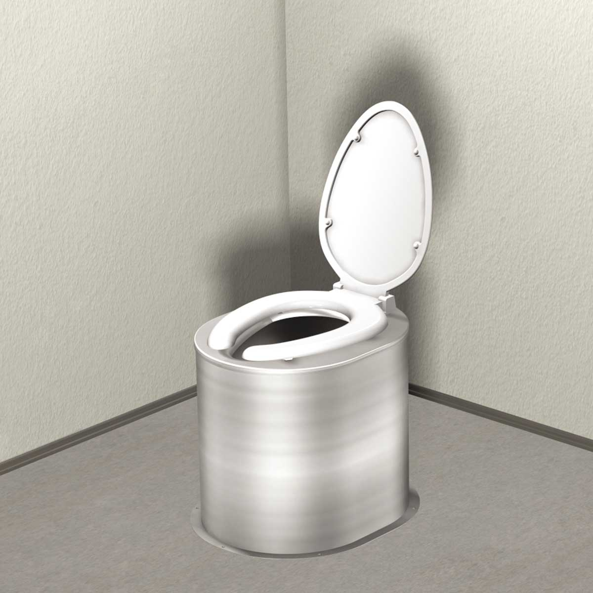 Waterless Toilet Riser With Seat And Cover Murdock