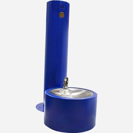 Round Pedestal Push Button Pet Fountain Receptor