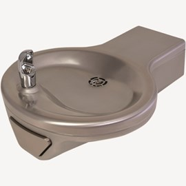 Oval Bowl Barrier-Free Wall Mount Drinking Fountain