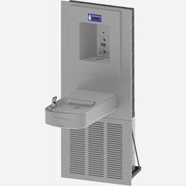 Rounded Box Chilled Barrier-Free Wall Mount Drinking Fountain with Sensor Activated Bottle Filler