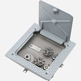 Stainless Steel Floor Hose Box with Lumaloy Top and Door