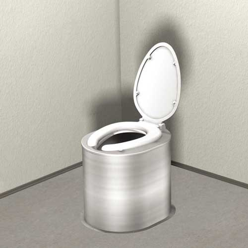 Groovy Floor Mounted Waterless Toilet Riser With Seat And Cover Alphanode Cool Chair Designs And Ideas Alphanodeonline