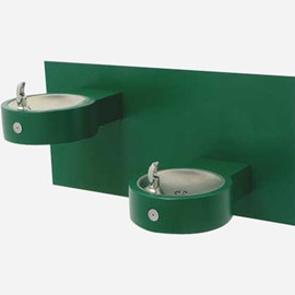 Bi-Level Round Stainless Steel Wall Mounted Drinking Fountain