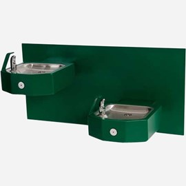 Bi-Level Square Stainless Steel Wall Mounted Drinking Fountain