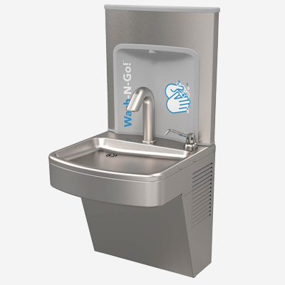 A171W Indoor Hand Wash Stainless Steel, Wall-Mounted, ADA-Compliant, Lead-Free Station