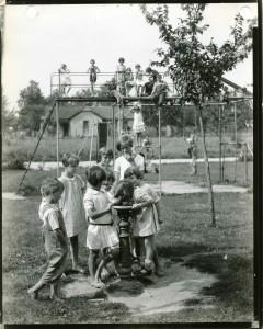 Murdock drinking fountain on Ohio playground 1929