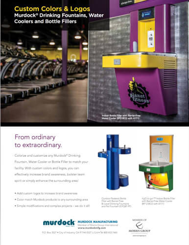 custom branded planet fitness water cooler example