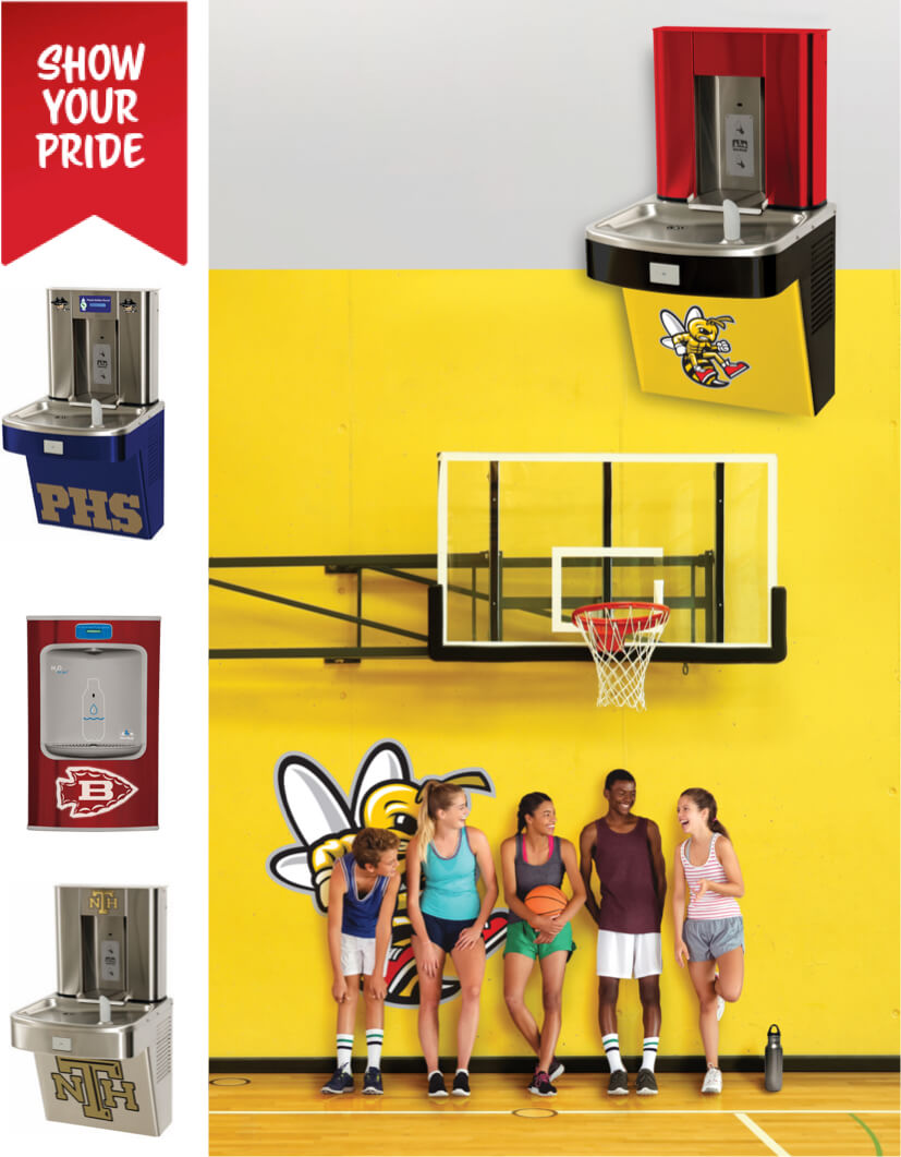 Custom Logo & Color Water Coolers for Schools